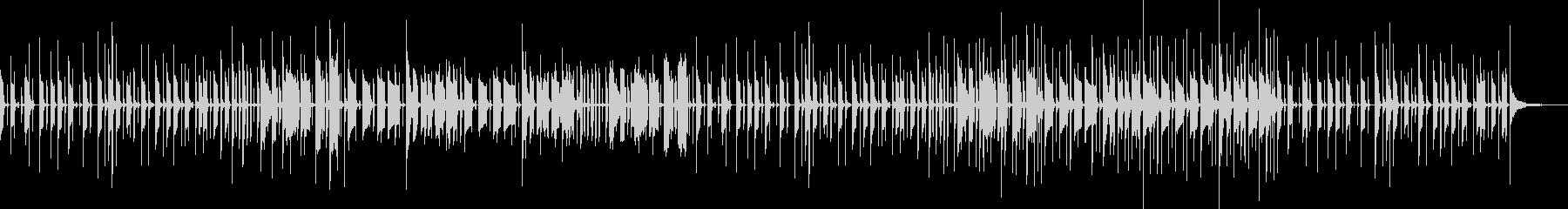 コミカルなリズムで響きのあるメロディーの未再生の波形