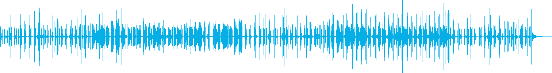コミカルなリズムで響きのあるメロディーの再生済みの波形