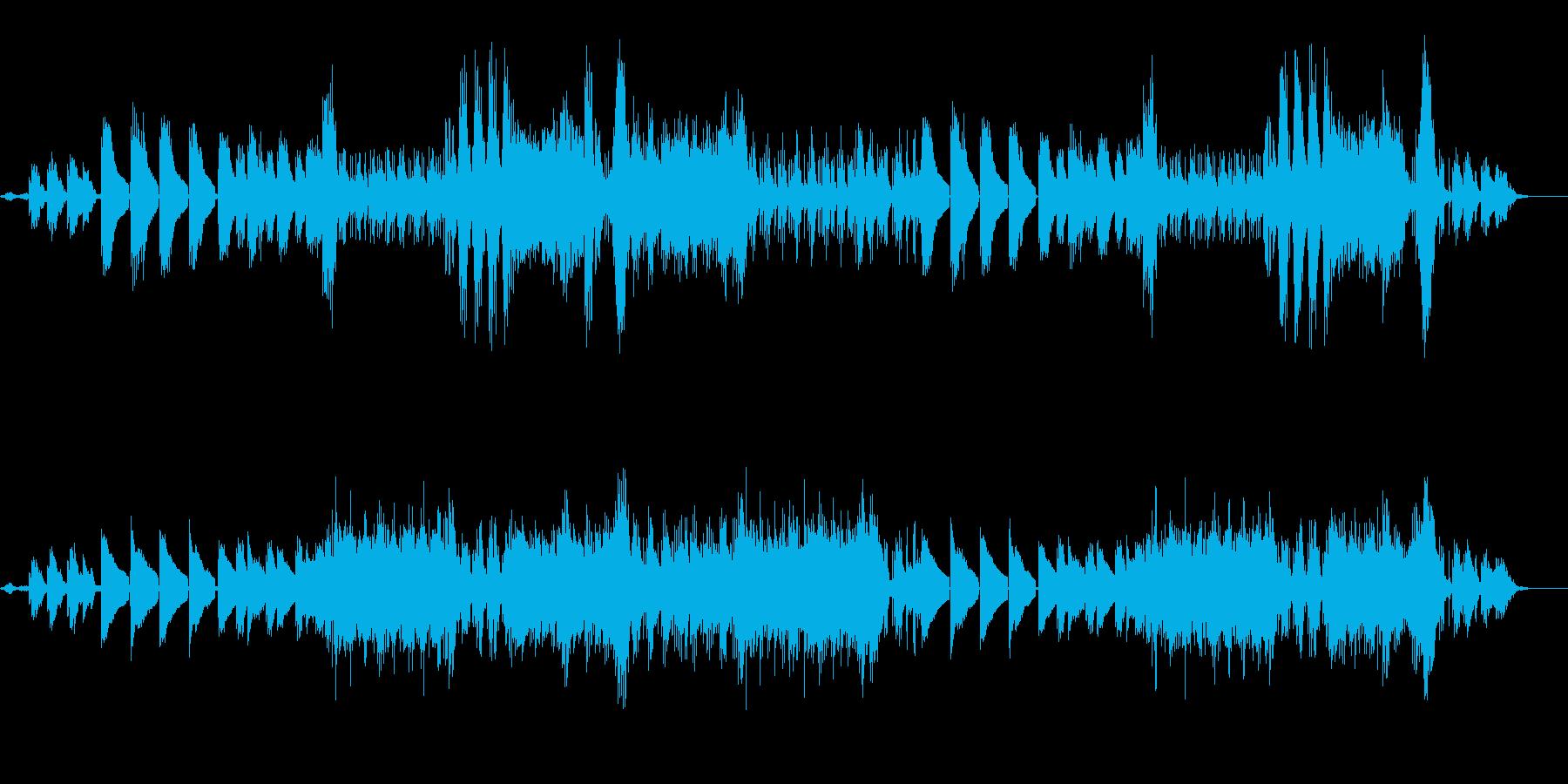 ゆったりとしたヒーリング系のアンビエントの再生済みの波形