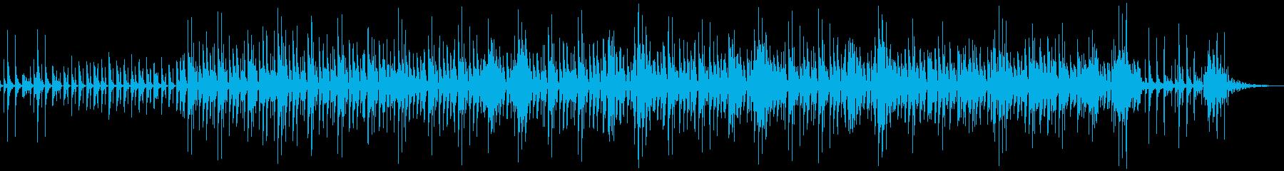 オルガンと民族楽器のトロピカルサウンドの再生済みの波形