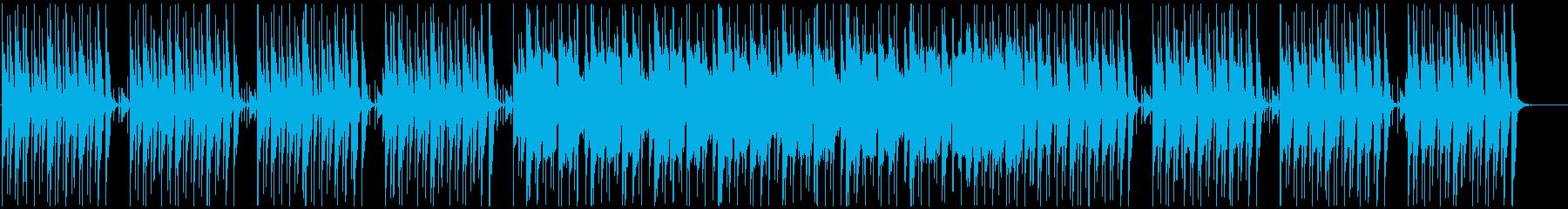 軽快でちょっとコミカルな和風BGMの再生済みの波形