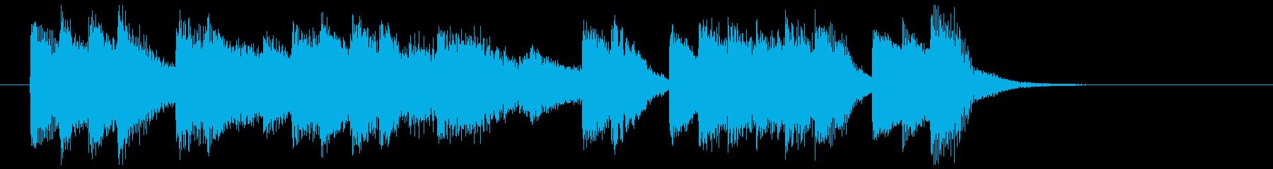 アメリカの古き良き時代のピアノ曲の再生済みの波形
