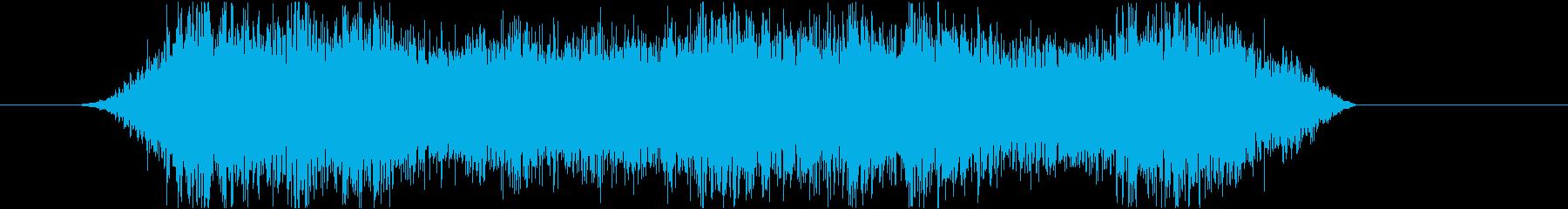 怖いモンスターのうめき声の再生済みの波形
