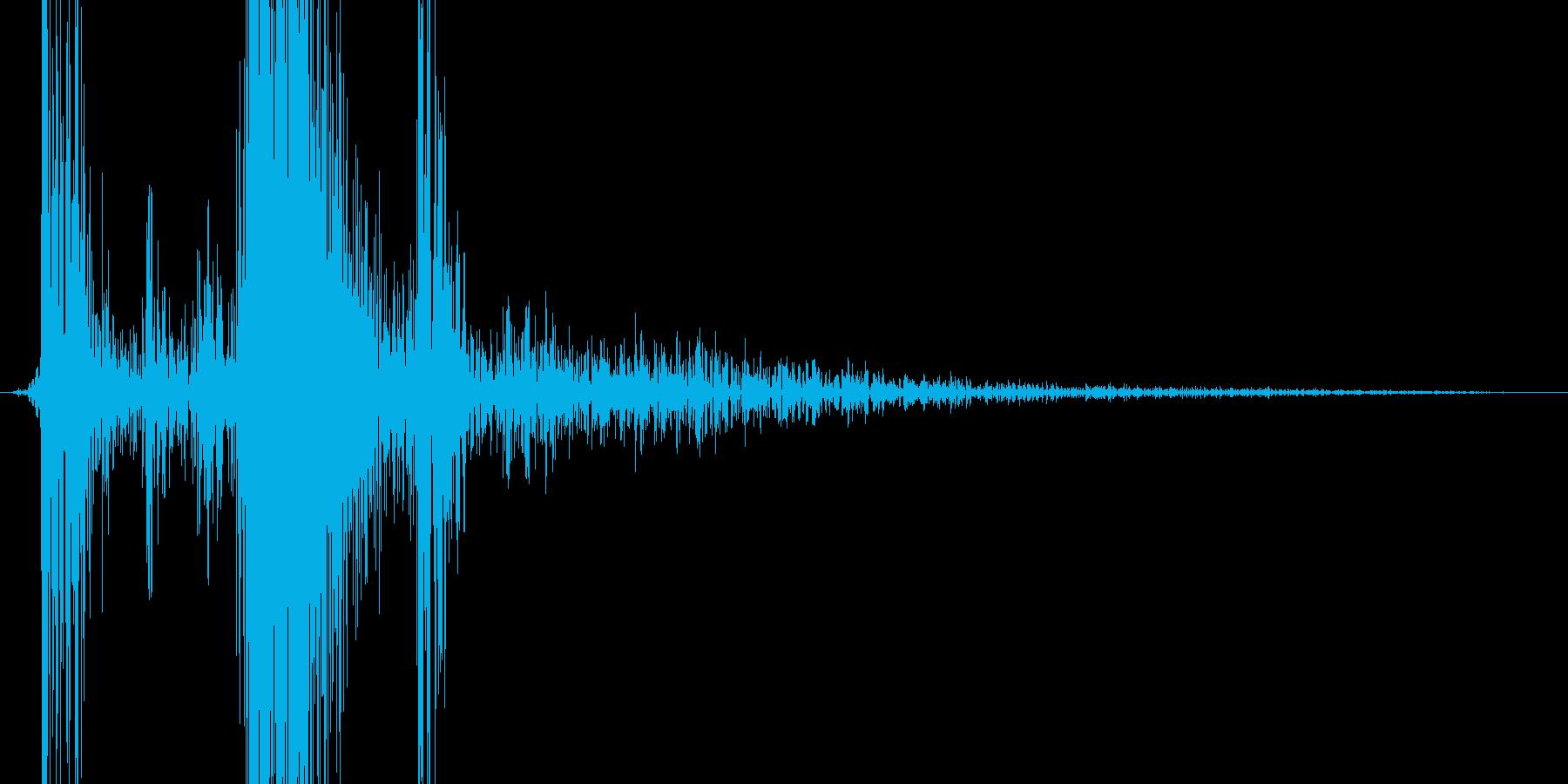 スライドストップを下げた音の再生済みの波形