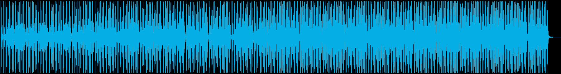 ゆったりトロピカルな4つ打ちの再生済みの波形