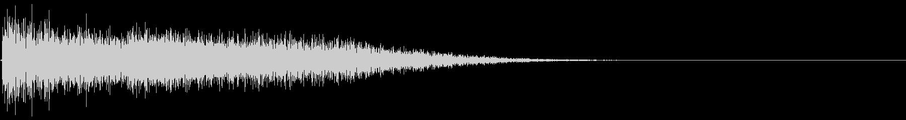 レーザーサーベルがぶつかり合うイメージの未再生の波形