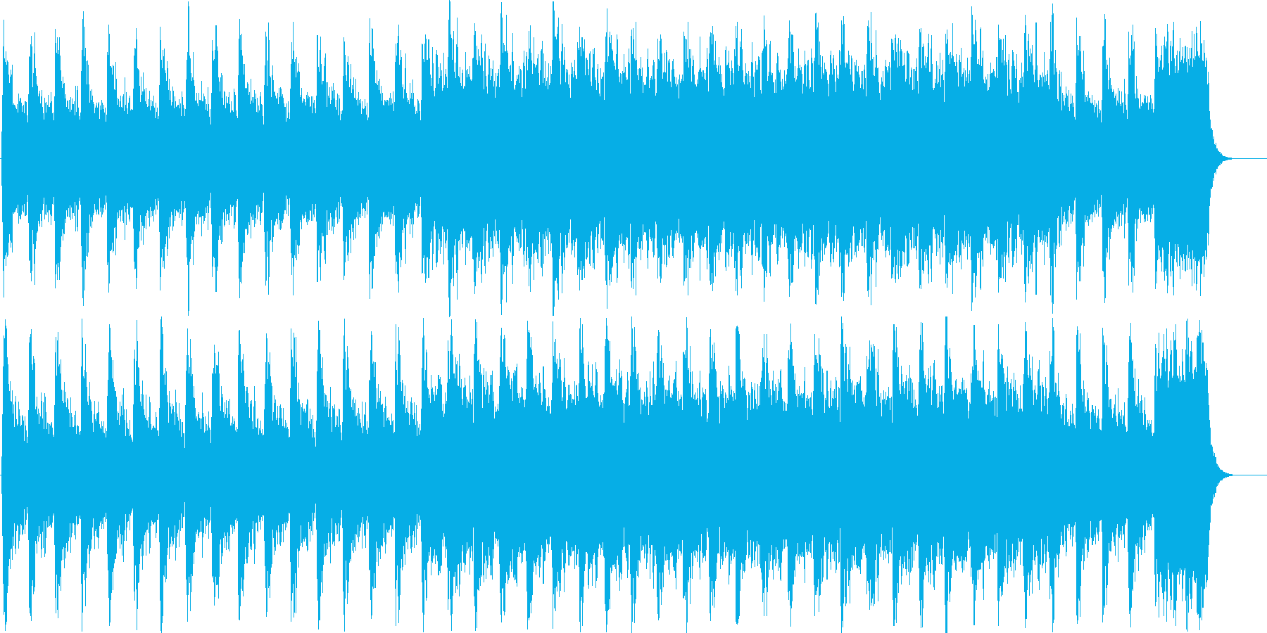 ファンタジックで幻想的なBGMの再生済みの波形
