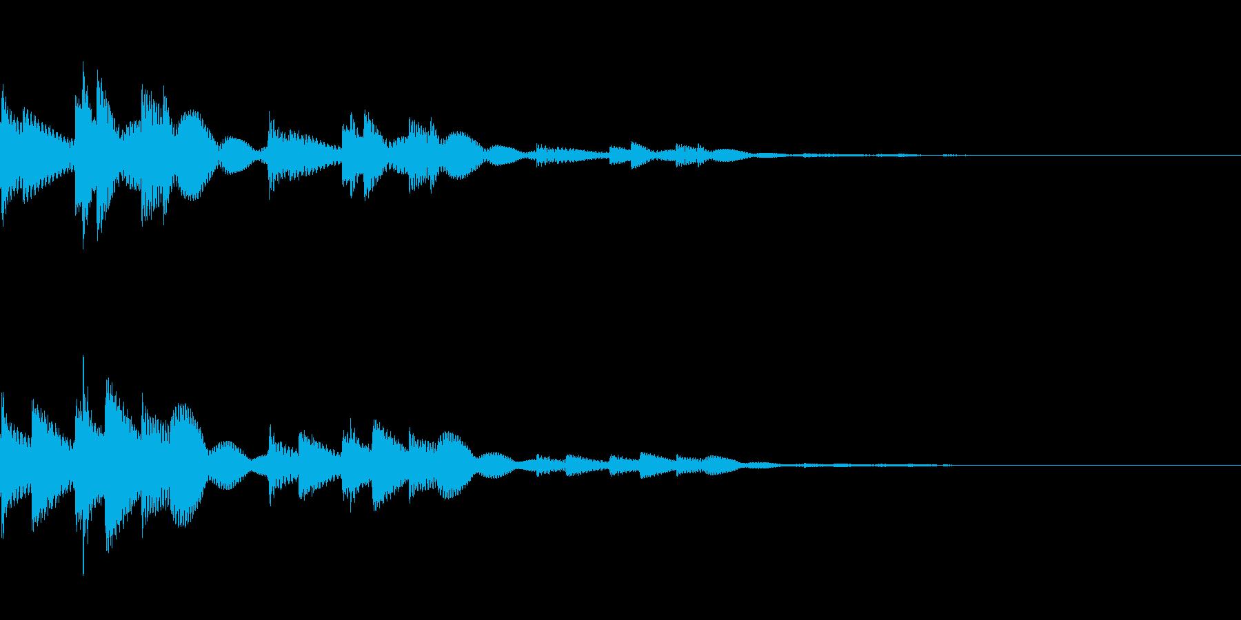 キランという音です。決定、回復、タッチ音の再生済みの波形