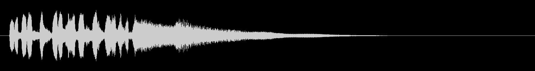 テーマ6A:ピアノ、トランペットの未再生の波形