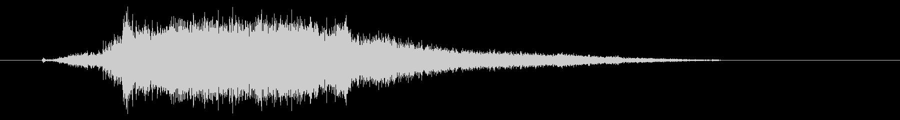 ドリルで木材に穴をあける音2の未再生の波形