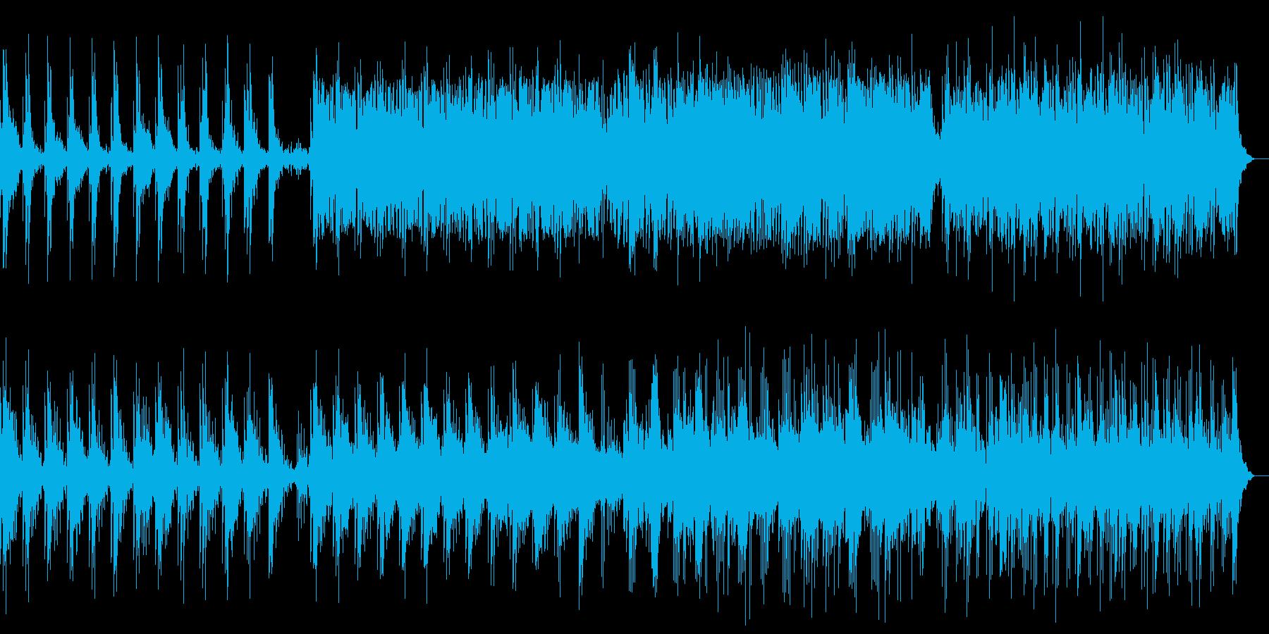 静かで美しいピアノのリラクゼーションの再生済みの波形