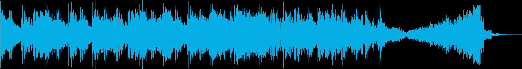 陰気なパワフルなドラムとサウンドデ...の再生済みの波形