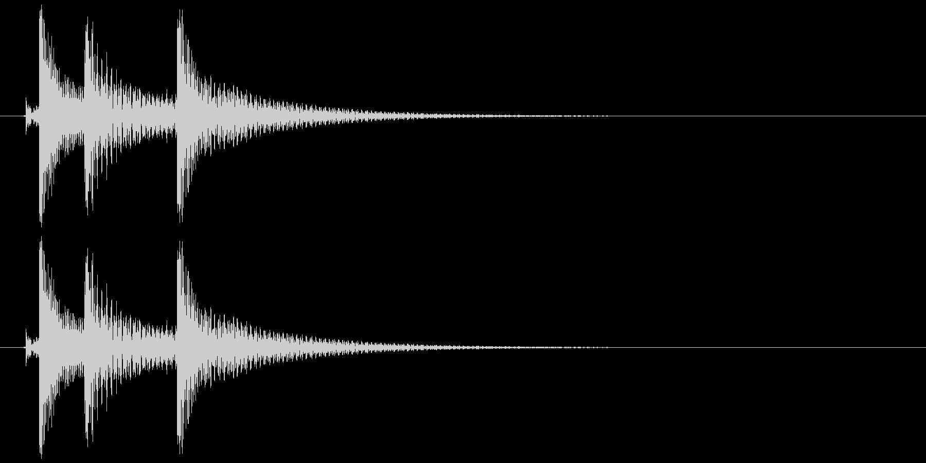 沖縄風クリック・タップ音2の未再生の波形