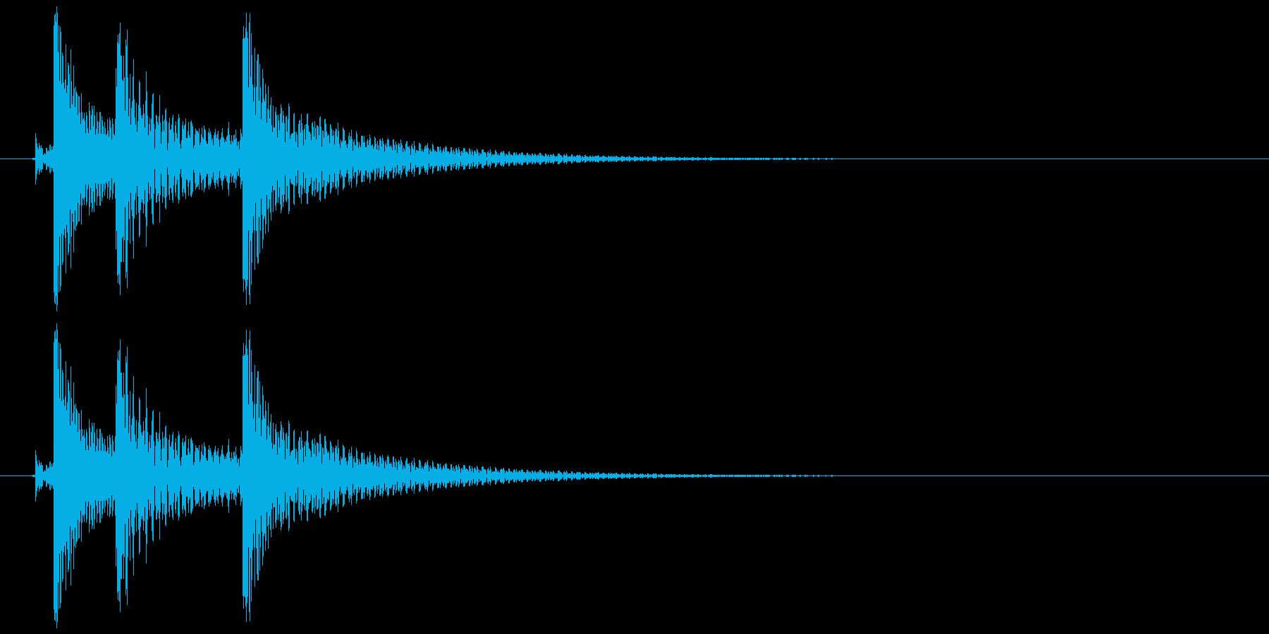 沖縄風クリック・タップ音2の再生済みの波形