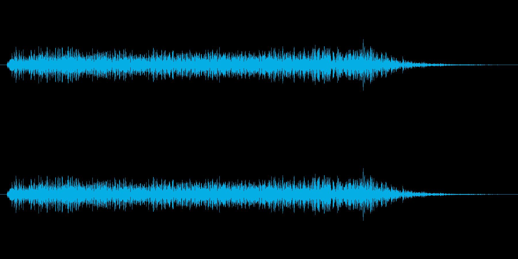 薄気味悪い物が現れる場面音の再生済みの波形