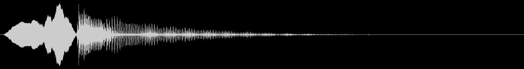 コミカルなスライドとボーイングの未再生の波形