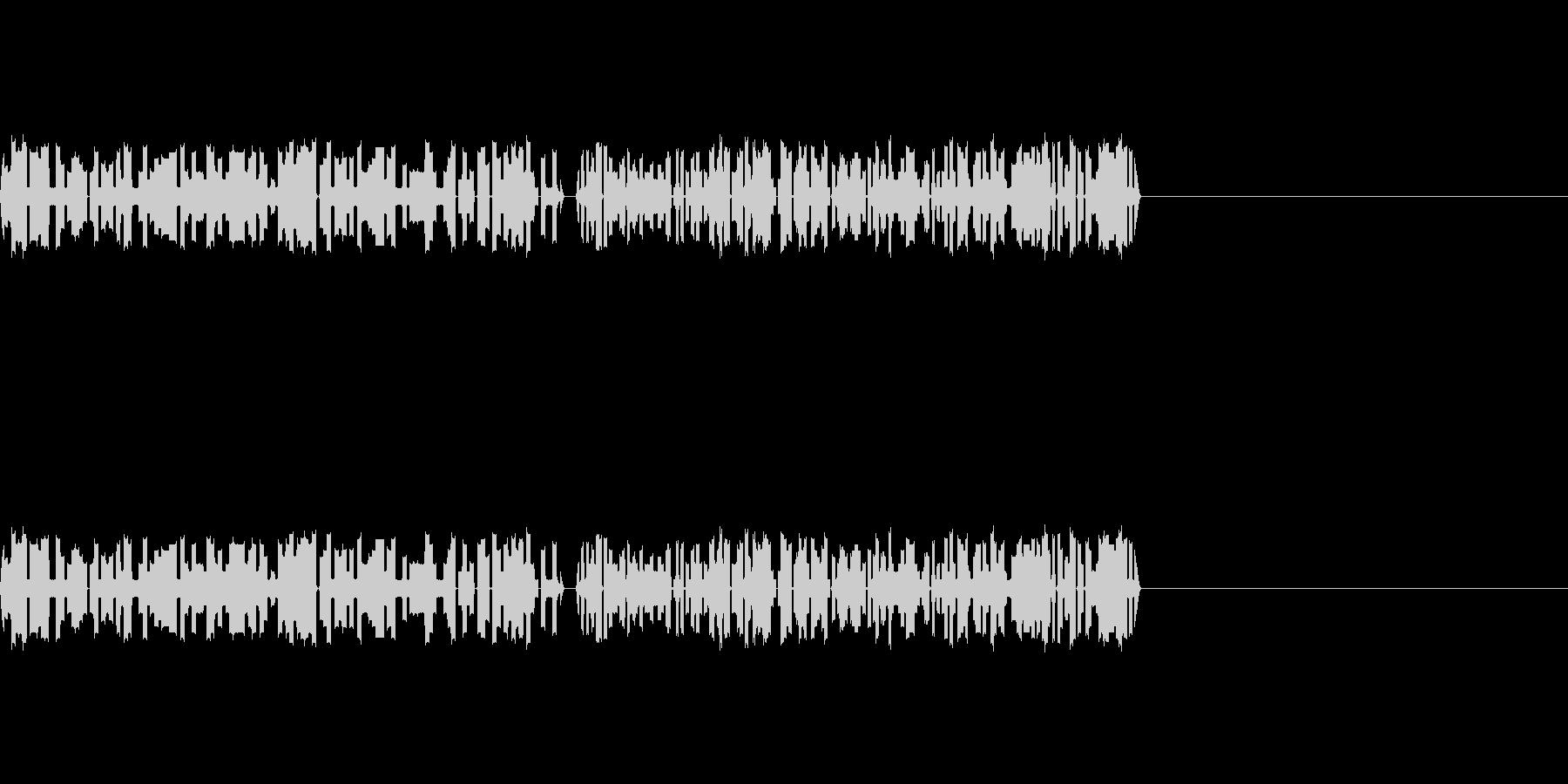 8bitゲームのパンチ、攻撃音の未再生の波形