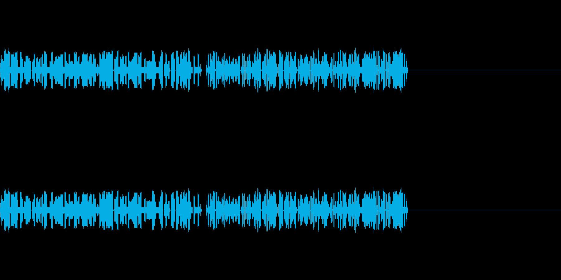 8bitゲームのパンチ、攻撃音の再生済みの波形