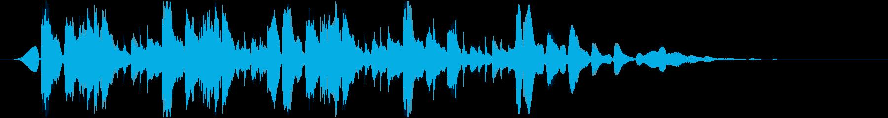 ほのぼの系アコースティックジングルの再生済みの波形