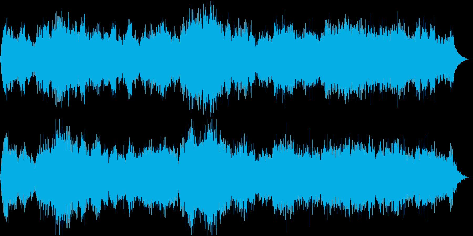 恐怖感のある気持ち悪いBGMの再生済みの波形