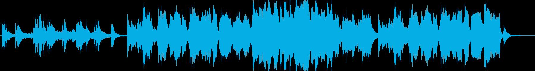 ピアノとフルート主体の優しいヒーリングaの再生済みの波形