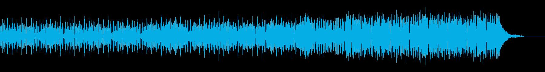 機械の説明をする時のハウスミュージックの再生済みの波形
