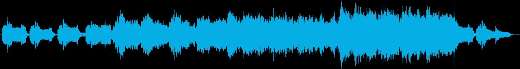 優しい音色のゆったりしたバラードの再生済みの波形