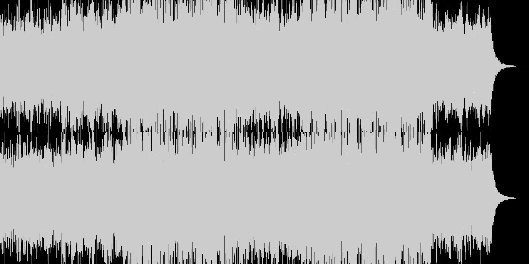 希望を感じるエンディングをイメージした曲の未再生の波形