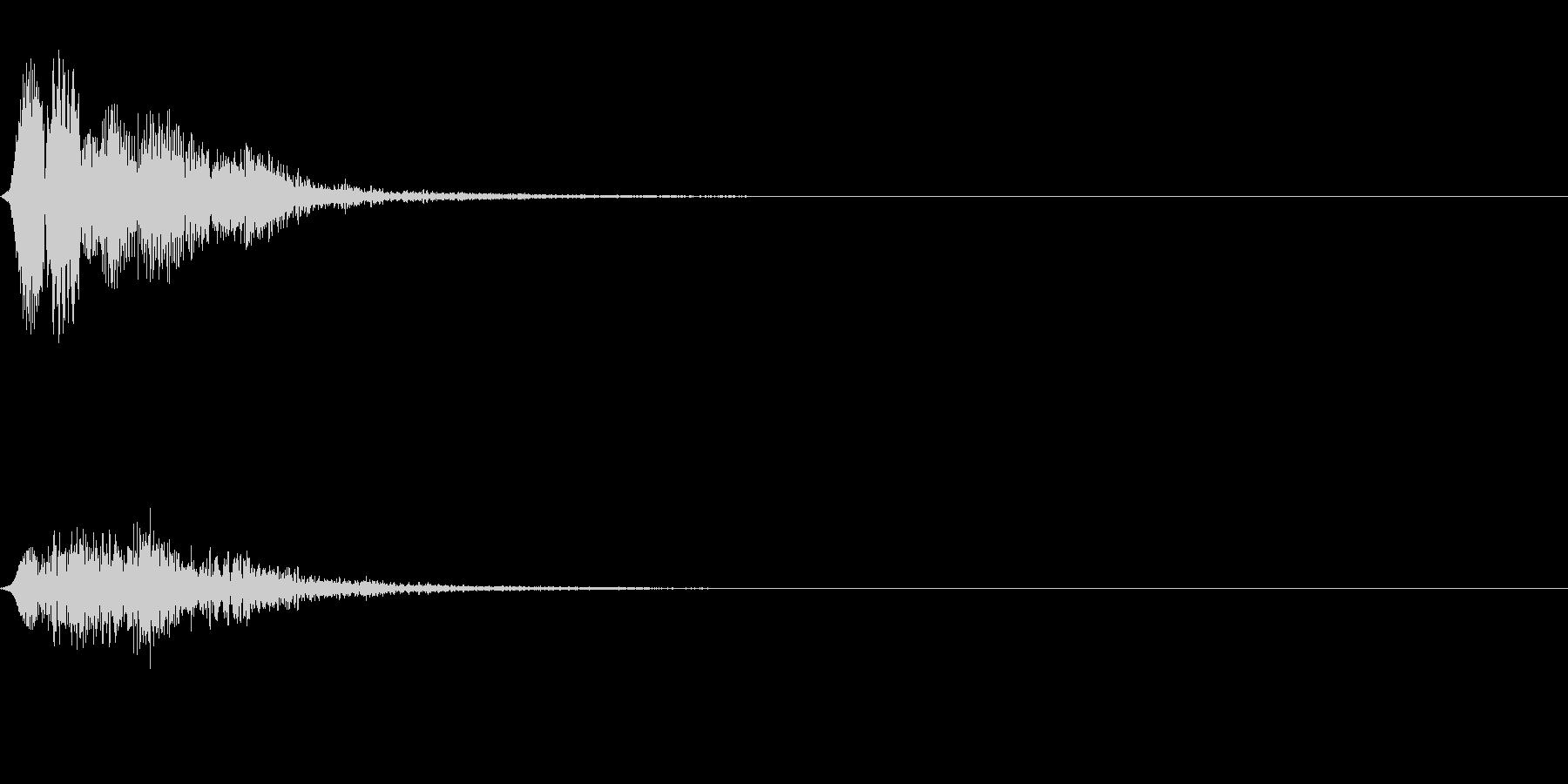 フュロロロロッ↓(フルート駆け降り)の未再生の波形
