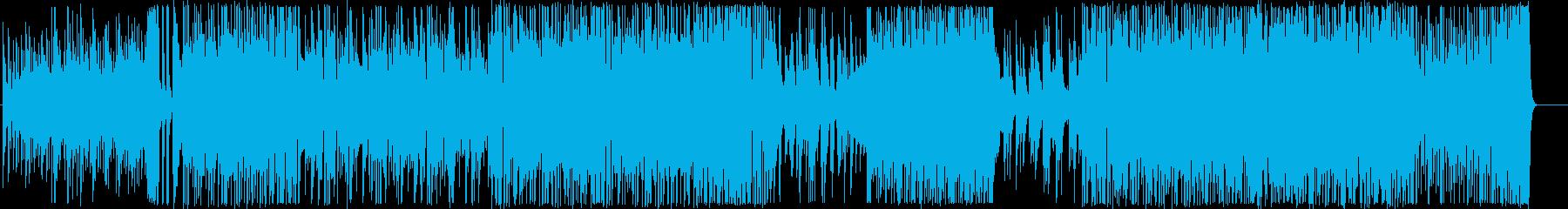 ノリノリの明るいギターインストの再生済みの波形