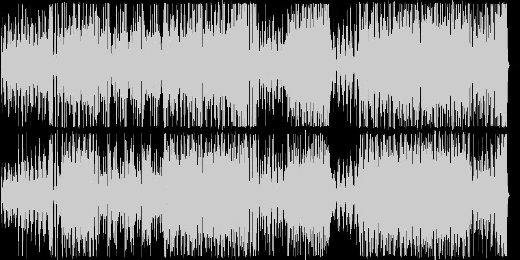ノリノリの明るいギターインストの未再生の波形