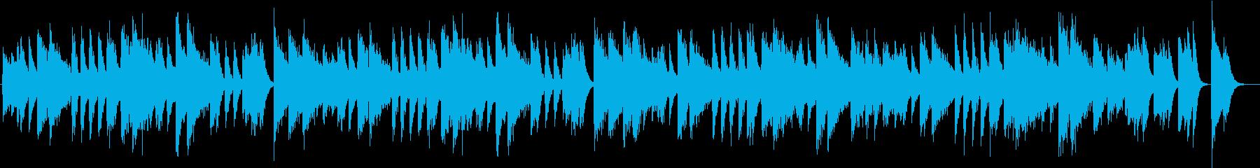 アップテンポクールジャズのピアノBGMの再生済みの波形