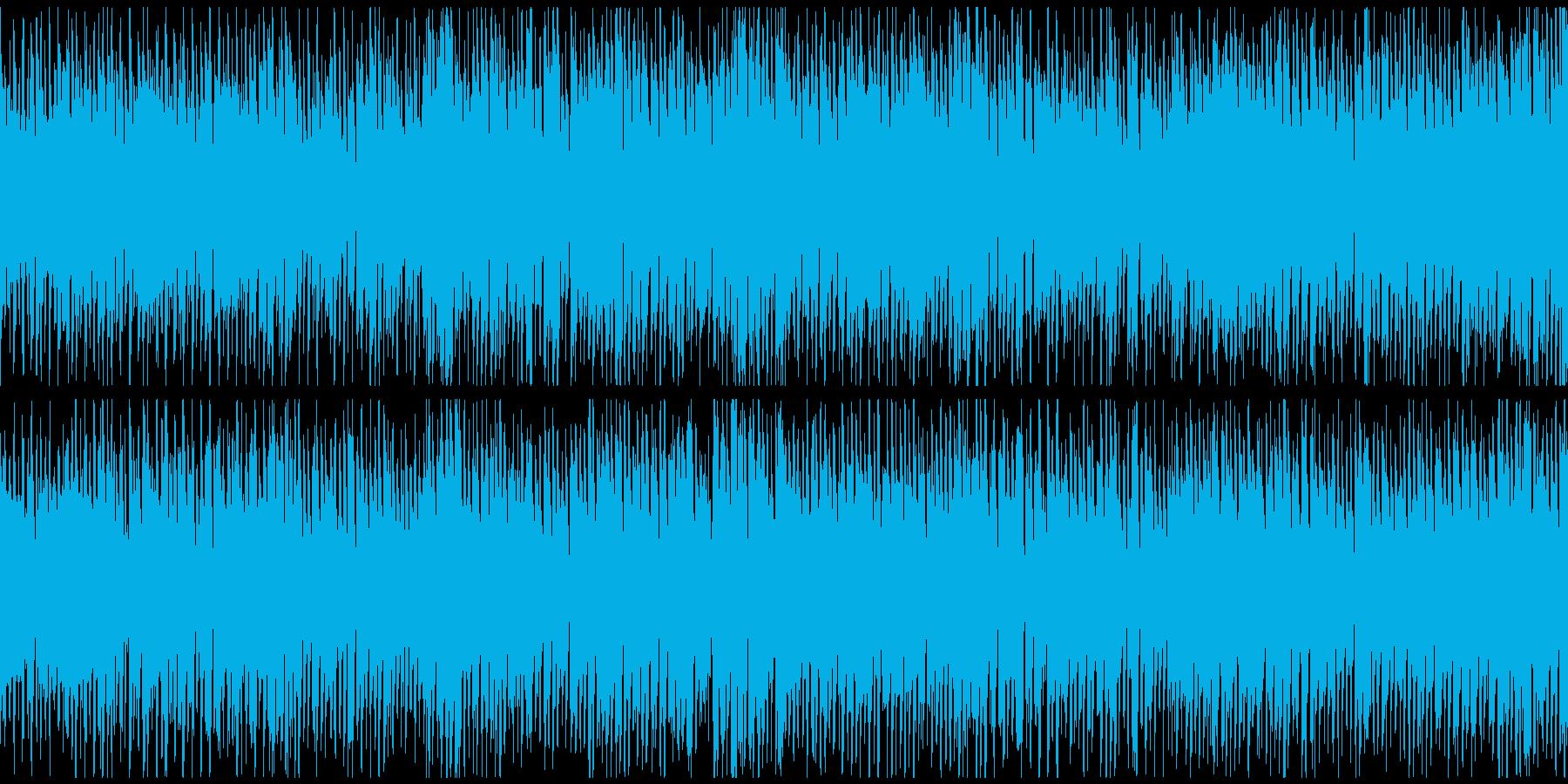 カートゥーン的なドタバタBGM※ループ版の再生済みの波形