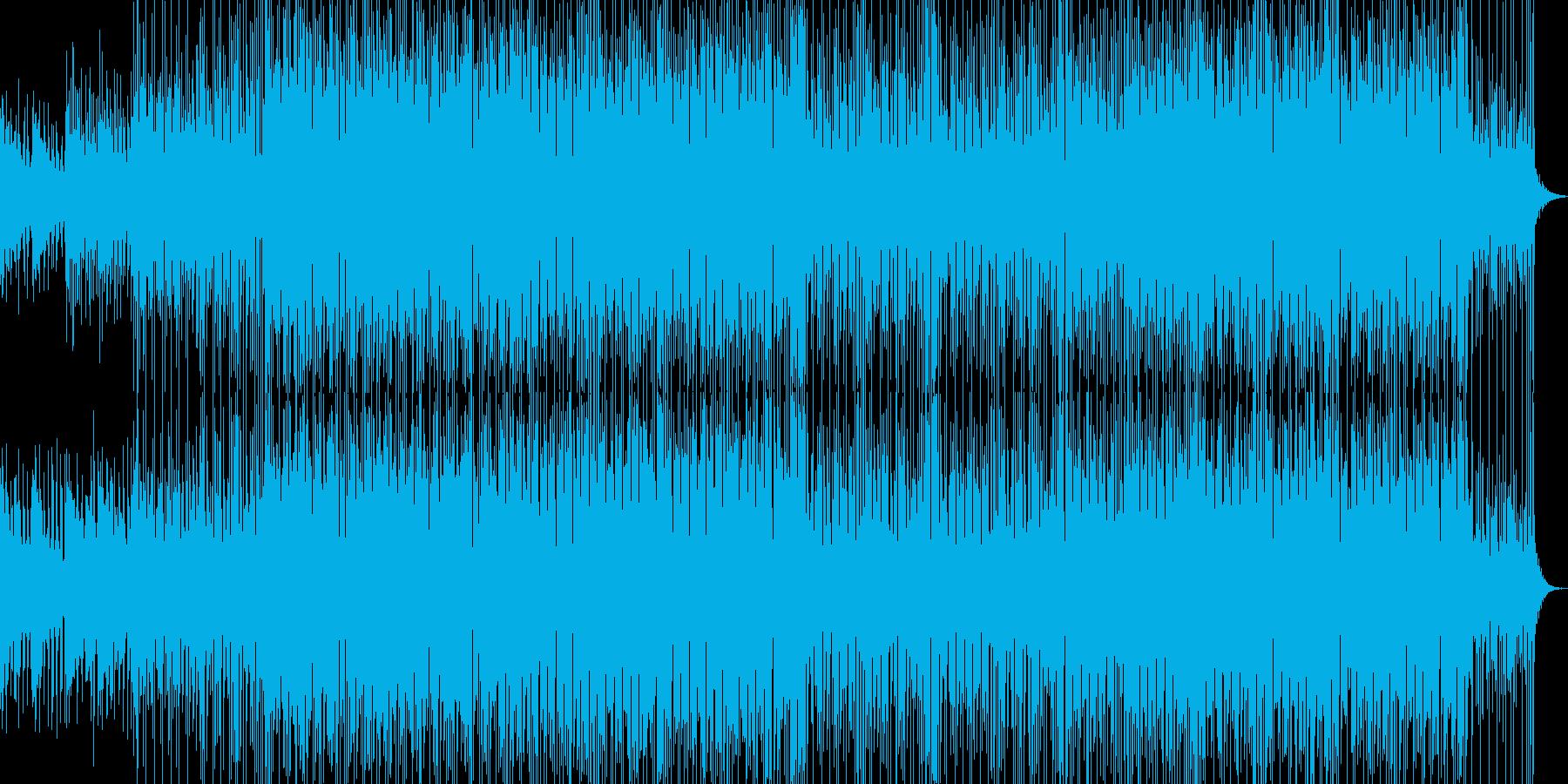 アンニュイな感じのBGMの再生済みの波形