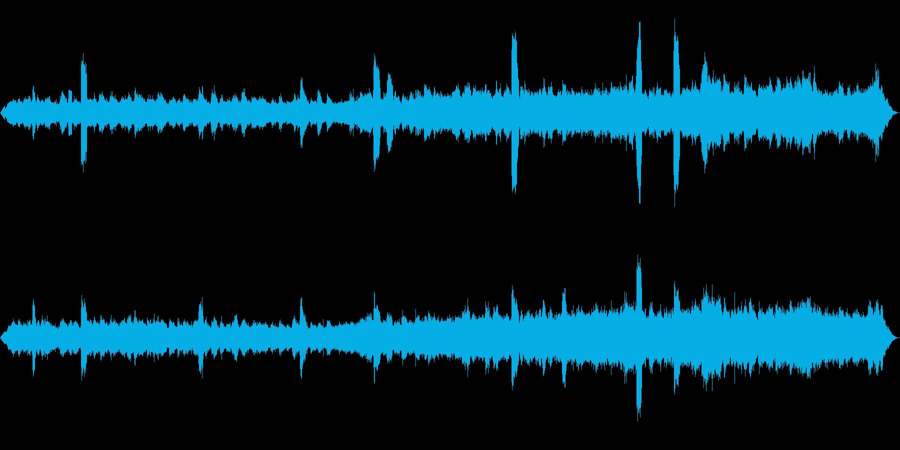 [ASMR]昆虫などが鳴いている森_01の再生済みの波形