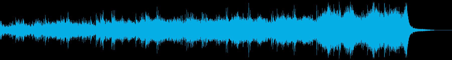 暗いサスペンス映画に流れている様なBGMの再生済みの波形