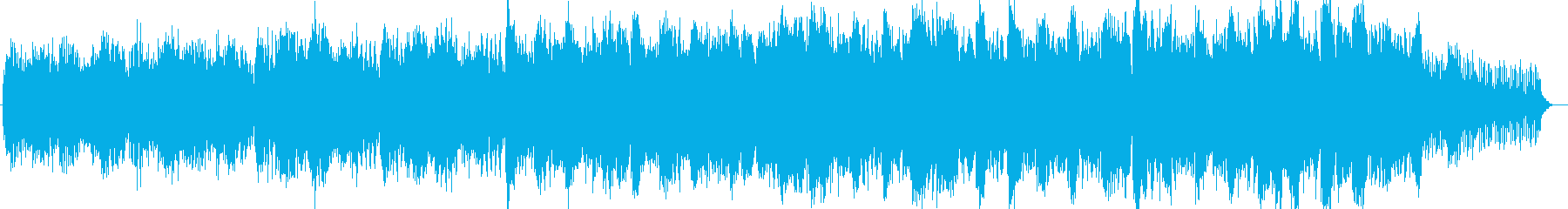 宇宙的なシンセサイザー系サウンドの再生済みの波形