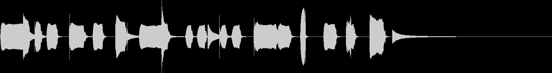 リコーダーと打楽器のとぼけたジングルの未再生の波形