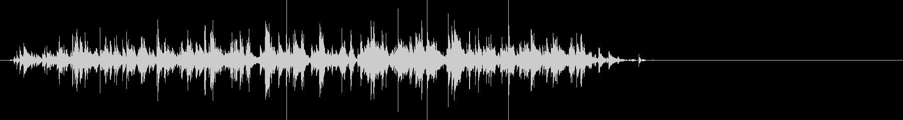 チャリンチャリン…いろいろな鈴の音の未再生の波形