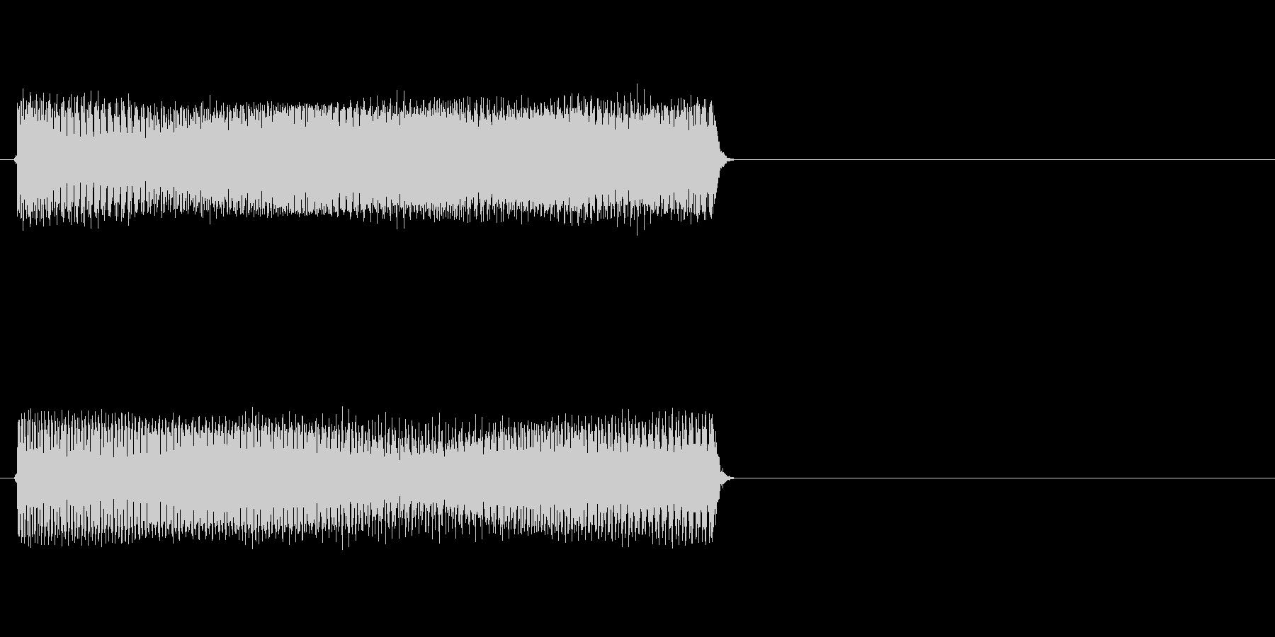 【ブー/ビー】というブザー音や不正解音の未再生の波形