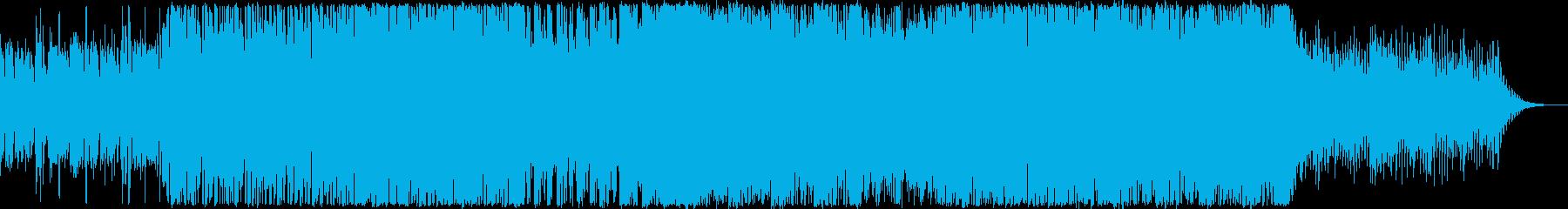 緊張感のあるハードなBGMの再生済みの波形