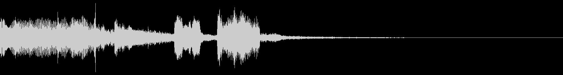 女声コーラスを使ったサウンドロゴの未再生の波形