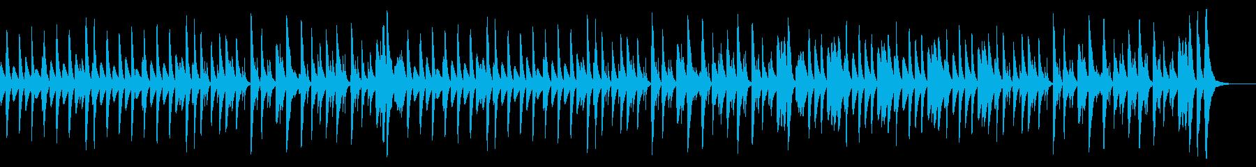 シンプルで軽快な明るいマリンバ曲の再生済みの波形