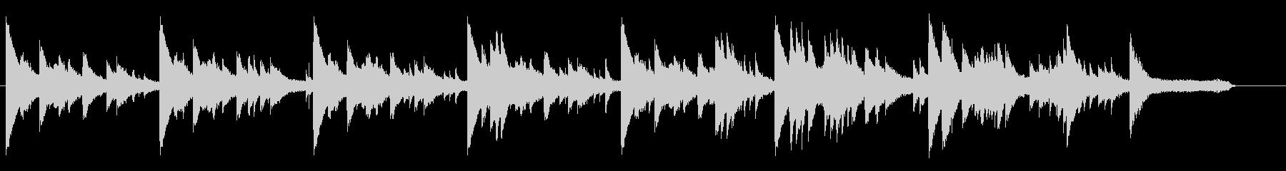 アンニュイ独特の世界観ピアノソロ拍子レスの未再生の波形