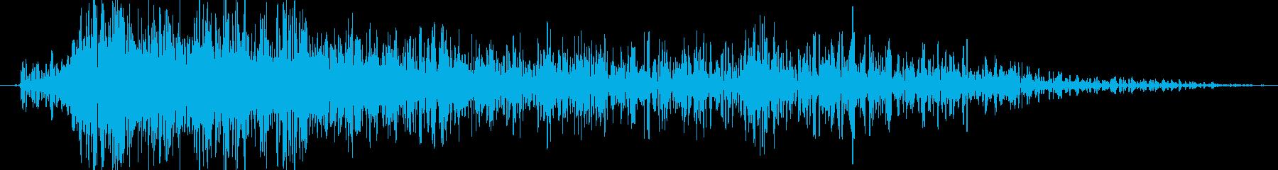 爆発(小規模_ドカーン)の再生済みの波形