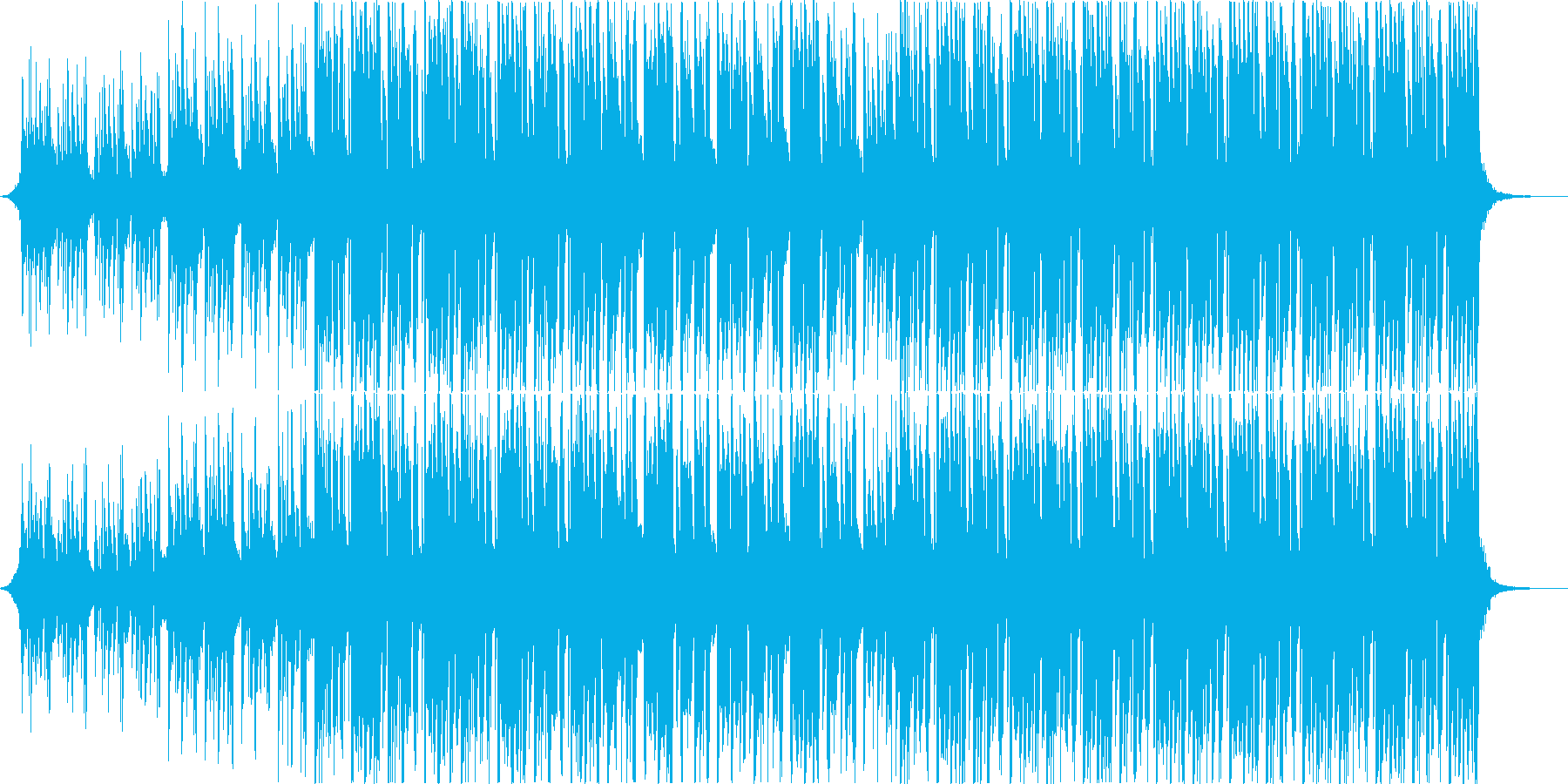 キャッチーなトロピカル系ダブステップの再生済みの波形