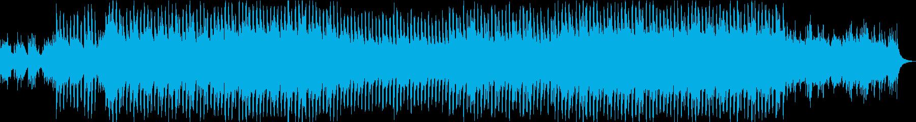 和風の琴と尺八のテクノポップの再生済みの波形