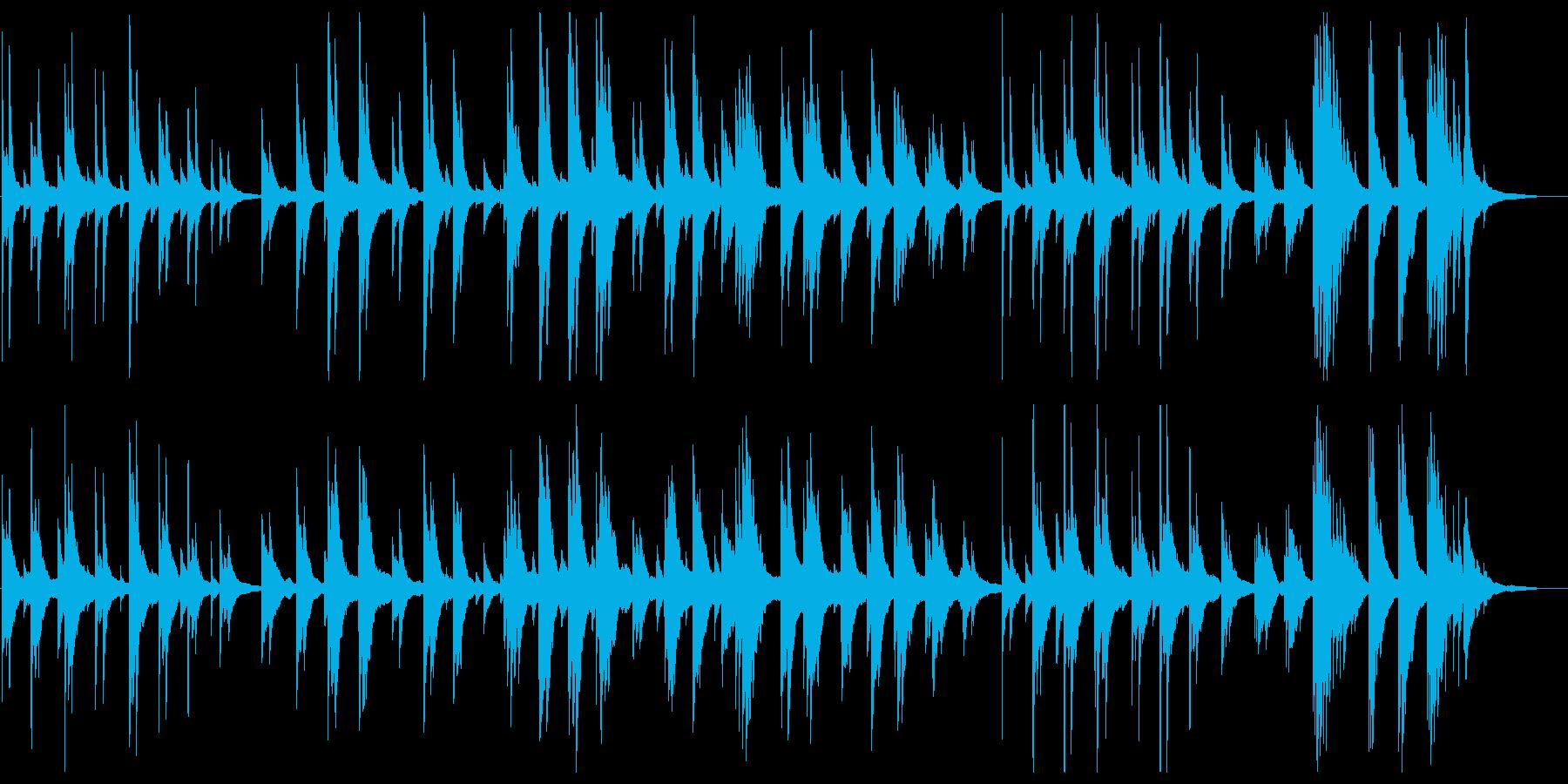 しっとりしたピアノの夜想曲の再生済みの波形