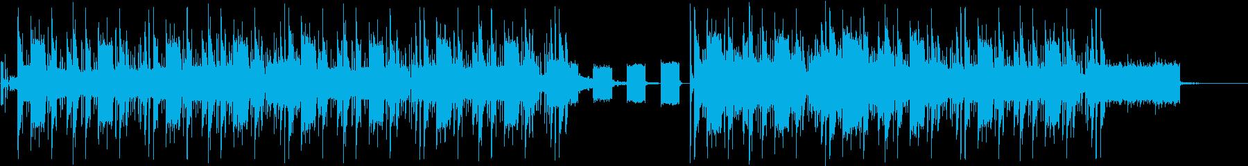 走り去るヘッドライト/スローモーションの再生済みの波形
