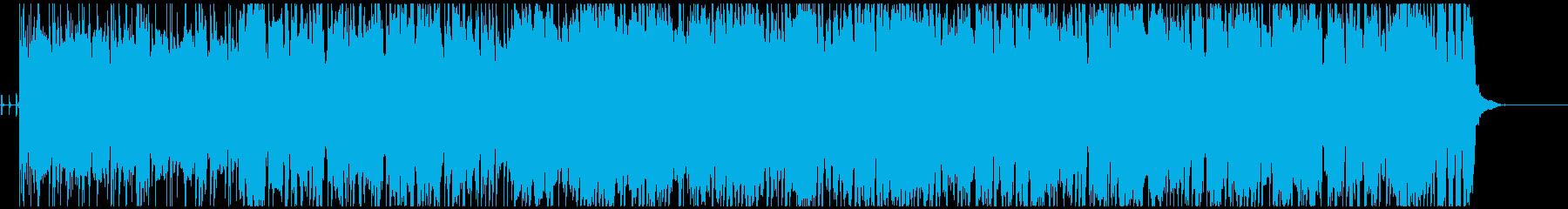明るくカラッとした感じのロックインストの再生済みの波形